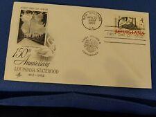 Scott #1197 4 Cent Stamp Honoring 150 Years Of Louisiana Statehood First Day...