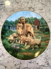 Golden Retrievers by Robert Christie 1989 - Hamilton Classic Sporting Dogs Plate