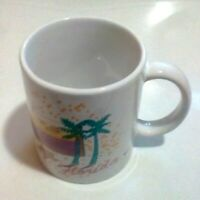 Vintage Florida Coffee Cup Mug Souvenir Palm Trees Beach