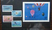 Grenada 1983 Bicentenary of Manned Flight set & Miniature Sheet Used