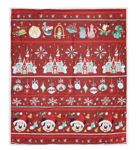 Disney Parks Twas the Night Before Mickey Christmas Holiday Blanket New with Tag