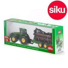 SIKU No 1954 1:50 John Deere 8430 Tractor & Forestry Trailer c/w Logs Crane Grab
