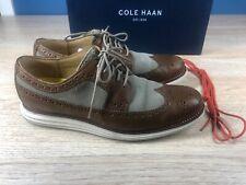 Cole Haan Lunargrand Lunarlon Wingtip Oxfords Two Tone Brown/Tan Mens Size 10