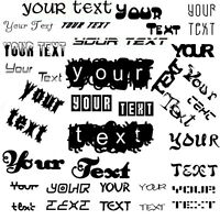 YOUR TEXT Vinyl Decal Sticker Car Window Wall CUSTOM Personalized Letter Words