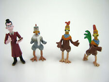 (4) 2000 Dreamworks Playmates Chicken Run Figures Rocky Rhodes Fowler Tweety Lot