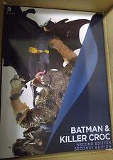DC COLLECTIBLES BATMAN VS KILLER CROC STATUE 2ND EDITION