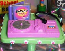 Barbie DeeJay Turn Table Microphone Headset Record CD Case Holder Lot Dollhouse
