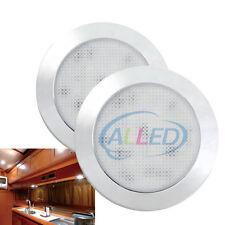 2pcs LED Ultrathin Cabinet Dome Light 76mm 12V Ceiling Lamp RV Caravan Lighting