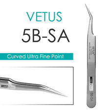 VETUS 5B-SA Curved Ultra Precise Extra Fine Point Tweezers Eyelash Extension