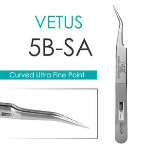 Eyelash Extension Tweezers VETUS 5B-SA Curved Ultra Precise Extra Fine Point