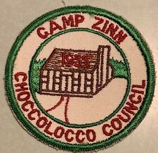 Camp Zinn Patch Choccolocco Council Greater Alabama  1955