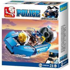 New Sluban Kids Police Boat Hoovercraft Building Blocks 74 Pcs Kids Building Toy