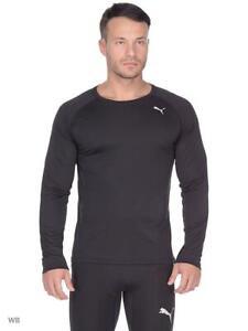 Mens Puma Gym Sweat Top Breatheable Running T Shirt Performance Tee Black