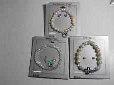 3 Bracelet + Earring AB crystal Swarovski® Elements Freshwater Pearl Heart Cross