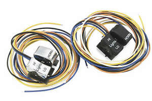 Twin Power Dimmer/Horn Switch Black 25872DA