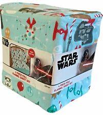 Star Wars Happy Holidays Santa Darth Vader Chewbacca Flannel Full Sheet Set