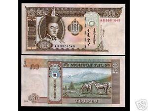 MONGOLIA 50 TUGRIK P-64 2000 x 100 Pcs Lot BUNDLE HORSE MILLENNIUM UNC CURRENCY