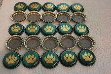 100 GOLD PAW METALLIC GREEN SLEEMAN BEER BOTTLE CAPS UNCRIMPED FREE SHPNG