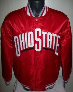 OHIO STATE BUCKEYES Starter Snap Down Jacket SCARLETT  LARGE