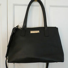 DKNY Large Black Pebbled Leather Satchel/Shoulder/Cross – NWT - $365