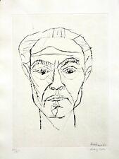 Eduard Bargheer: Selbstbildnis. Original-Kaltnadelradierung, signiert/nummeriert