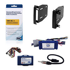 Radio Replacement & Steering Control Interface Dash Kit 2-DIN for Dodge/Chrysler