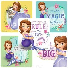 20 Sofia the First Pearl of the Sea STICKERS Party Favors Teacher Supplies Bags