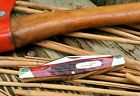 VINTAGE 1989 Buck 301V USA VERY NICE OLD RED BONE SCALES N Mint Condition