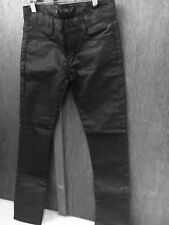 Finger In The Nose Skinny Black Leather Look Jeans 12/13