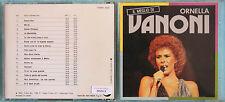 ORNELLA VANONI - IL MEGLIO DI ORNELLA VANONI - 1 CD n.2611- EDIZIONE JAPAN