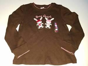 NWT Gymboree Alpine Sweetie Brown Bunny Snow Angels Top Shirt 5T 5