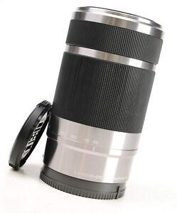 Sony 55-210mm F4.5-6.3 AF Zoom OSS - E Mount Lens + Front & Rear Lens Caps