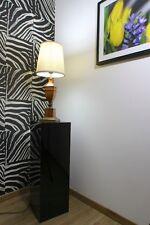 Holzsäule aus MDF in schwarz HOCHGLANZ, Säule Podest Dekosäule Galeriesockel