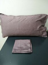 JCP Royal Velvet Purple King Size Pillow Cases Egyptian Cotton 38x22""