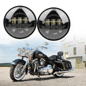 2×4.5'' Motorcycle Fog Passing Lights Auxiliary Spot Lights For Harley Davidson