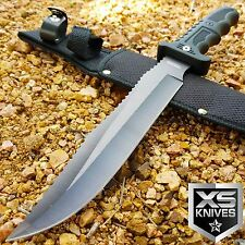 "13"" SURVIVAL TACTICAL Fixed Blade HUNTING COMBAT Knife MILITARY Bowie w/ Sheath"