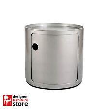 Replica Componibili Round Cabinet (1 Tier) - Silver