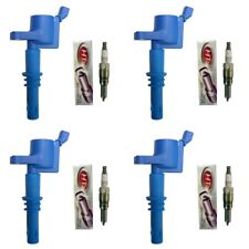New Autolite HT1 Platinum Spark Plugs Set (4) + 4 Ignition Coils DG511