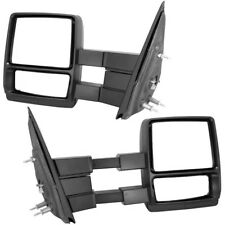 For 04-14 Ford F150 Pickup Manual Adjusted Towing Telescoping Mirrors Set Pair