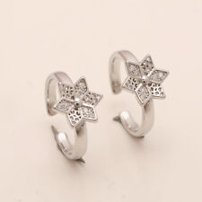 925 Sterlng Silver Easter Gifts A Handmade Russian White Topaz Fine ToeRing Pair