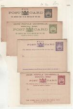 Oa068/ Fiji Inseln 4 Ganzsachen (2x DOPPELKARTE) *