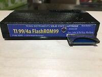 TI 99/4a MultiCart FlashROM 99 cartridge assembled & in custom made case