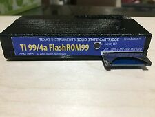 TI 99/4a MultiCart FlashROM 99 cartridge assembled & in custom made case