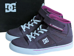DC Girls Youth Size 3.5 Spartan High EV Sneakers Purple High Top Skate Shoes