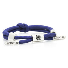 RASTACLAT Armada Navy Knotted Shoelace Nylon Wristband Bracelet Jewelry NEW