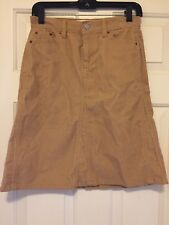 0ddc1d958 GAP JEANS SKIRT Tan corduroy Western Style front pocket skirt_sz 1 cotton