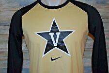 Nike Dri-Fit Vanderbilt Commodores Men's L/S Polyester Pullover Gold Black Lg