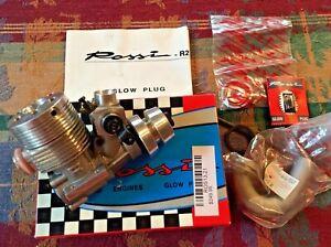NOS - New In Box ROSSI R21 - .21 3.5cc MARINE NITRO RACING ENGINE - Mono + Hydro