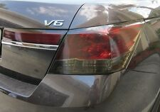 PRECUT VINYL TINT SMOKE OVERLAYS FOR 08-12 ACCORD SEDAN 4DR TAIL LIGHT