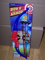 NEW CHILD'S BOW AND ARROW ARCHERY SET INCLUDES BOW, 3 ARROWS & CUT-OUT TARGET